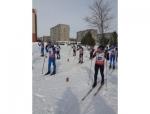 Юные спортсмены Искитима на лыжне