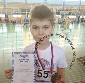 Юный легкоатлет из Искитима стал трехкратным победителем всех трех этапов Детской Лиги