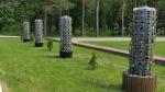 Фотофакт. В парке им. Коротеева г. Искитима появились новые - вертикальные - клумбы