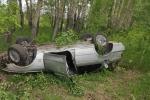 В Искитимском районе водитель седана погиб, съехав в кювет на дороге в сторону Бурмистрова