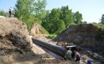 Идет ремонт дорожного полотна автомобильной дороги «г. Бердск – с. Сосновка»