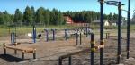 Мини-футбольное поле строят на многофункциональной спортивной площадке в с. Морозово