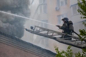 Пожар с массовой эвакуацией