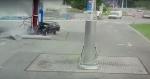 """В Искитимском районе на """"Чуйском тракте"""" нетрезвый водитель совершил наезд на бензоколонку АЗС"""