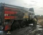 В Искитимском районе загорелся автомобиль пожарных